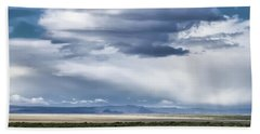 Cloud Traveling Over Open Ground Bath Towel