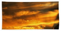 Clouded Sunset Hand Towel by Kyle West