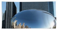 Cloudgate Reflects Hand Towel