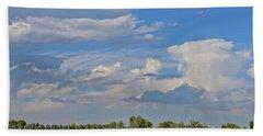 Clouds Aboive The Tree Farm Bath Towel