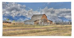Clouds And Barn Hand Towel