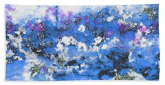 Clouds And Blossom Bath Towel by Stephanie Grant