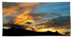 Clouds Of Liquid Gold Bath Towel by Glenn McCarthy Art and Photography