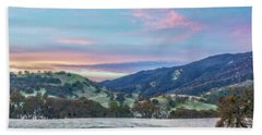 Clouds Over Frosty Landscape Hand Towel