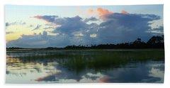 Clouds Over Marsh Bath Towel