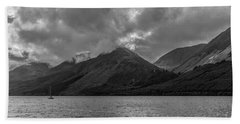 Bath Towel featuring the photograph Clouds Over Loch Lochy, Scotland by Chris Coffee