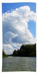 Clouds Over The Platte River Bath Towel