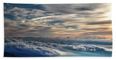 Bath Towel featuring the photograph Clouds Over The Smoky's by Douglas Stucky