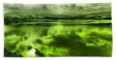 Hand Towel featuring the photograph Clouds Reflecting Off The Columbia  by Jeff Swan