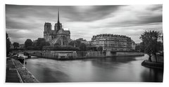 Cloudy Day On The Seine Hand Towel