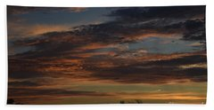 Hand Towel featuring the photograph Cloudy Kansas Evening by Mark McReynolds