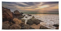 Cloudy Point Dume Sunset Hand Towel
