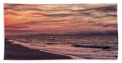 Bath Towel featuring the photograph Cloudy Sunrise At The Beach by John McGraw