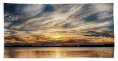 Cloudy Sunset Bath Towel by Doug Long