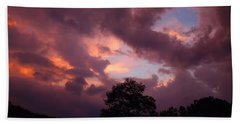 Cloudy Sunset Bath Towel