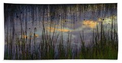 Hand Towel featuring the photograph Cloudy Tide Pool by Laura Ragland