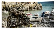 Clovelly Crab Trap Hand Towel