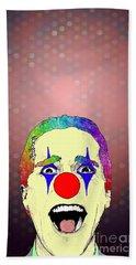 clown Christian Bale Bath Towel by Jason Tricktop Matthews