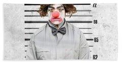 Clown Mug Shot Bath Towel