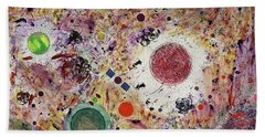 Bath Towel featuring the painting Cluster Of Love by Michael Lucarelli