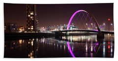 Clyde Arc Night Reflections Bath Towel