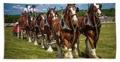 Budweiser Clydesdale Horses Bath Towel
