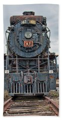 Cn Locomotive 47 - Front View Bath Towel