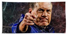 Coach Bill Belichick Bath Towel