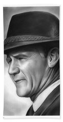 Coach Tom Landry Hand Towel by Greg Joens