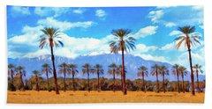 Coachella Date Palms Bath Towel