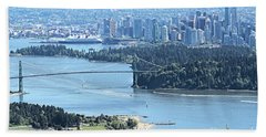Coal Harbour Hand Towel by Victor K