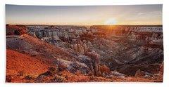 Coal Mine Canyon Sunrise Bath Towel by David Cote