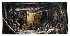 Coal Mine Explosion, 1873 Hand Towel