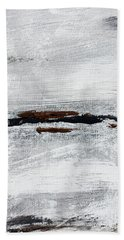 Coast # 10 Seascape Landscape Original Fine Art Acrylic On Canvas Bath Towel