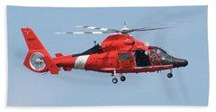Coast Guard Helicopter Bath Towel