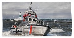 Coast Guard Bath Towel by Wade Aiken