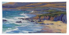 Coastal Cruising 8, San Simeon Bath Towel