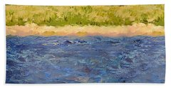 Bath Towel featuring the painting Coastal Dunes - Square by Michelle Calkins