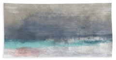 Coastal Escape-abstract Art By Linda Woods Hand Towel