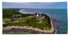 Coastal Nobska Point Lighthouse Hand Towel