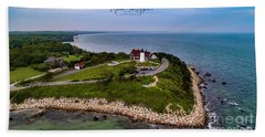 Coastal Nobska Point Lighthouse Hand Towel