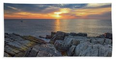 Coastal Sunrise On The Cliffs Bath Towel