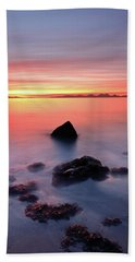 Bath Towel featuring the photograph Coastal Sunset Kintyre by Grant Glendinning