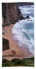 Coastal View At Big Sur Hand Towel