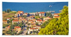 Coastal Village On Island Of Pasman Hand Towel