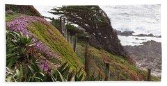 Coastal Windblown Trees Bath Towel