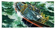 Coastguard Lifeboat Bath Towel