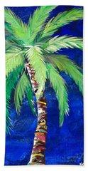 Cobalt Blue Palm II Bath Towel by Kristen Abrahamson
