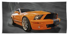 Cobra Power - Shelby Gt500 Mustang Bath Towel by Gill Billington