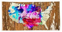Coca Cola America Bath Towel